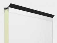 Верхний алюминиевый профиль с терморазделением, препятствующим образованию наледи и конденсата и верхней части полотна ворот