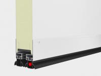 Нижний алюминиевый профиль сохраняющий терморазделение сэндвич-панели.