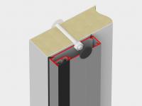 Алюминиевая рама с кабель-каналом для установки ПЭНа обогрева