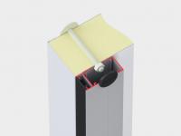 Асимметричная алюминиевая рама с кабель-каналом для установки ПЭНа обогрева