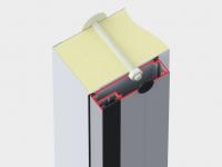 Алюминиевая рама с кабель-каналом для установки ПЭНа обогрева.