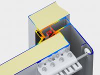 Система обогрева контура проема представляющая собой силовой каркас, выполненный из алюминиевого профиля, с греющим ПЭН-проводом внутри.