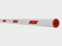 Стрела круглая длиной от 3 до 6 м (кратность длины: 1 м, диаметр - 85 мм, материал - алюминий тощиной 1,9 мм).