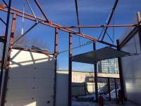 Промышленные подъёмно-секционные ворота на Комендантском 43