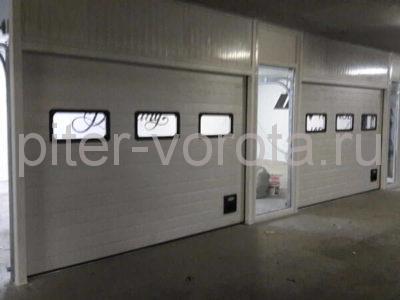 Ворота промышленные подъёмно-секционные DoorHan ISD01 на ст.м. Водолей, фото 1