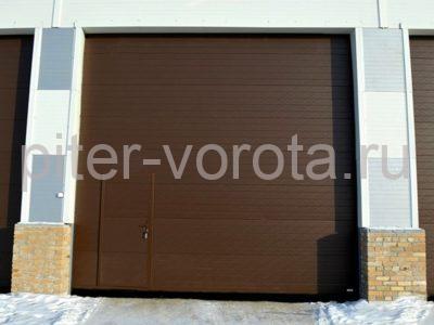 Промышленные секционные ворота DoorHan ISD01 8000 х 8000