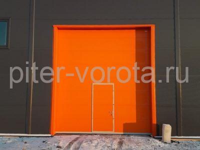 Промышленные подъёмно-секционные ворота DoorHan ISD01 в г.Коммунаре, фото 1