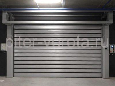 Спиральные скоростные ворота Doorhan DUS-555(N) 2450х2520 и 5000х2750 в д. Копище, фото 1