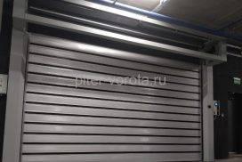 Спиральные скоростные ворота Doorhan DUS-555(N) 2450х2520 и 5000х2750 в д. Копище, фото 2