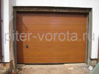 Секционные ворота Hormann 2750 × 2500 мм, ручное управление