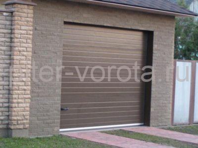 Секционные ворота Hormann 3000 × 2250 мм, автоматический привод Prolift